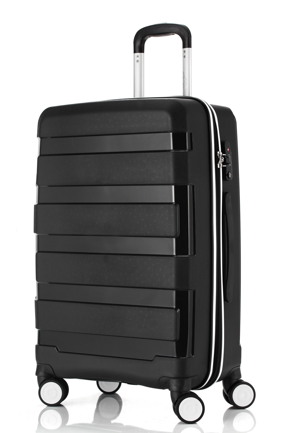 yanteng classic pure PP trolley suitcases in blue color