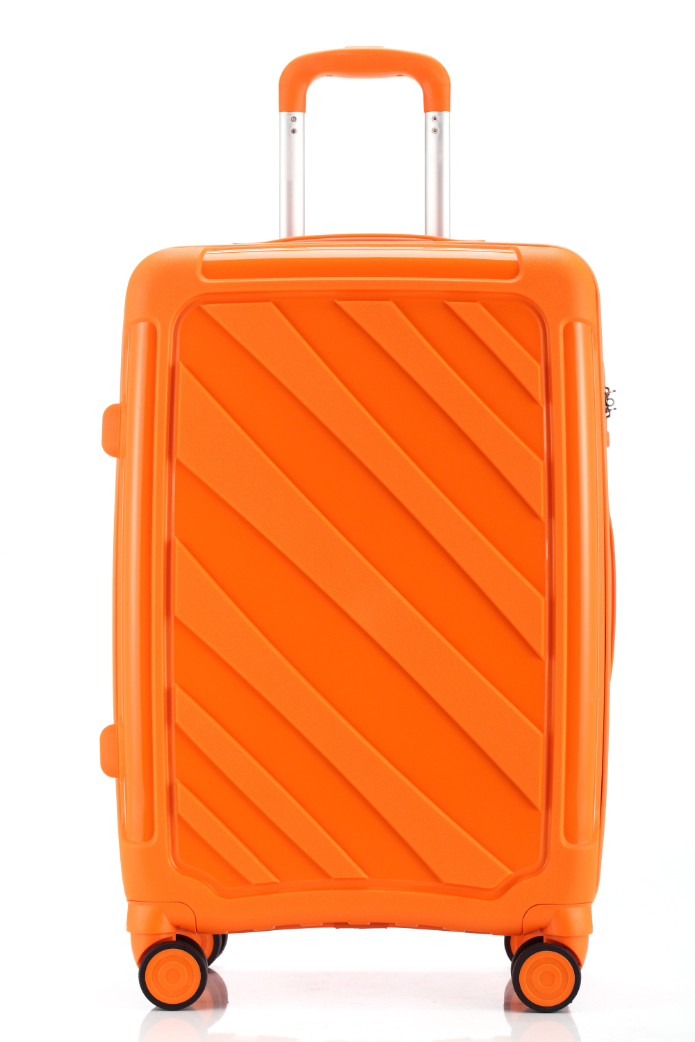 yanteng classic PP traveling luggage in orange color