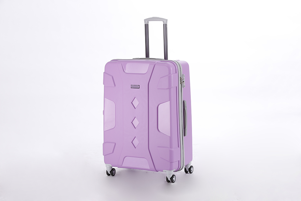 yanteng classic PP traveling luggage in purple color