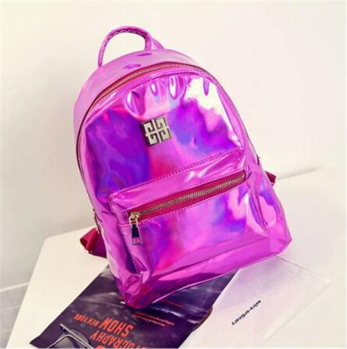Yanteng stylish Shiny School Bags in purple color