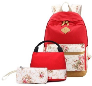 Yanteng stylish school bag set in red color